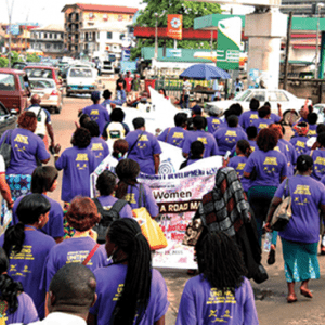 Our Work womin activists march niger delta 1