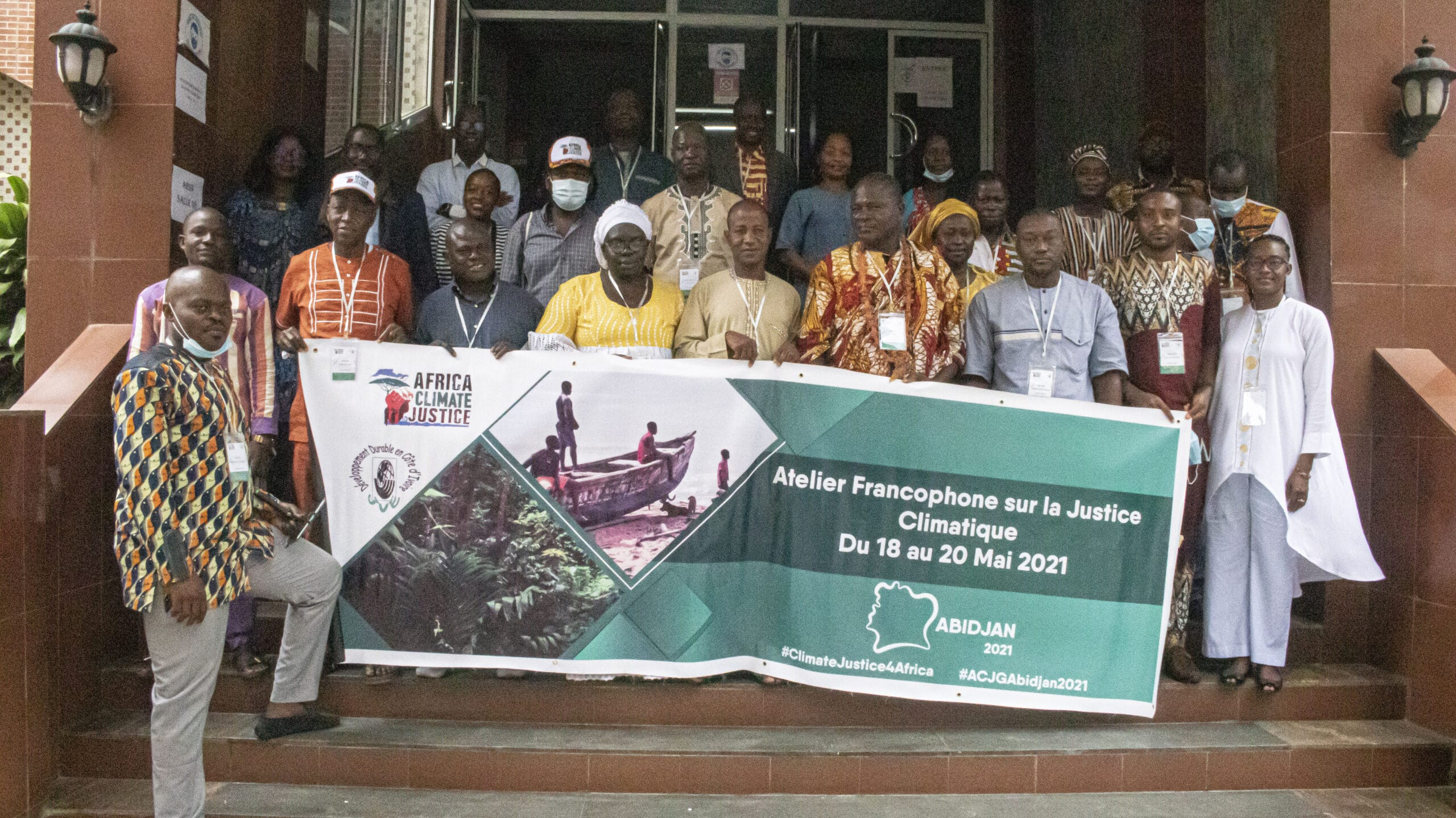 Francophone Climate Justice Gathering: SUMMARY NOTE the group at reflect resist rise acjg scaled